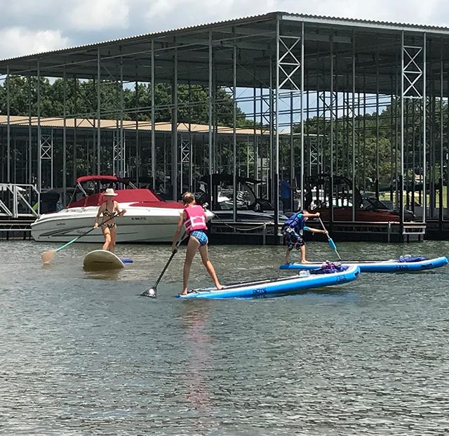 Another Beautiful day on LKN for perfecting your pivot turns. #GirlsWhoSUP #ExploreNC #LakeNorman