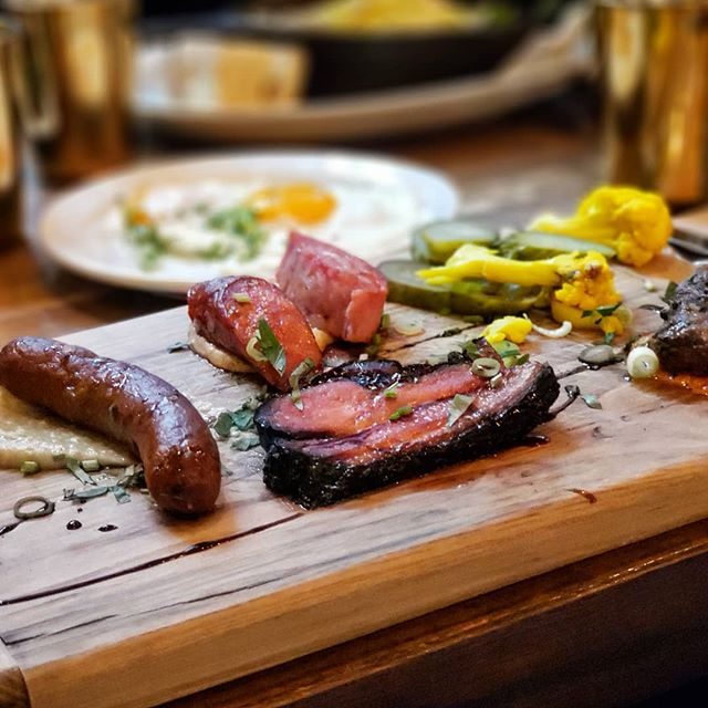 Possibly one of the greatest brunches I've had the pleasure of enjoying. The Wolves Plate, consisted of sausages, flatiron grilled steak, a couple eggs (for a few more $$), one thicc strip of bacon and some pickles. Delicious and protein heavy! Loved every bite!  #foodporn#foodie#foodlover#food#foodblogger#photooftheday#picsoffood #vancouver #medinacafe #wolvesplate #foodpictures #picturesoffood #vancouvereats #canadaeats #canada #cafe #meat #sausage #foodphotographer #yummy #yum #fresh #delicious #savory #eat #eatlocal