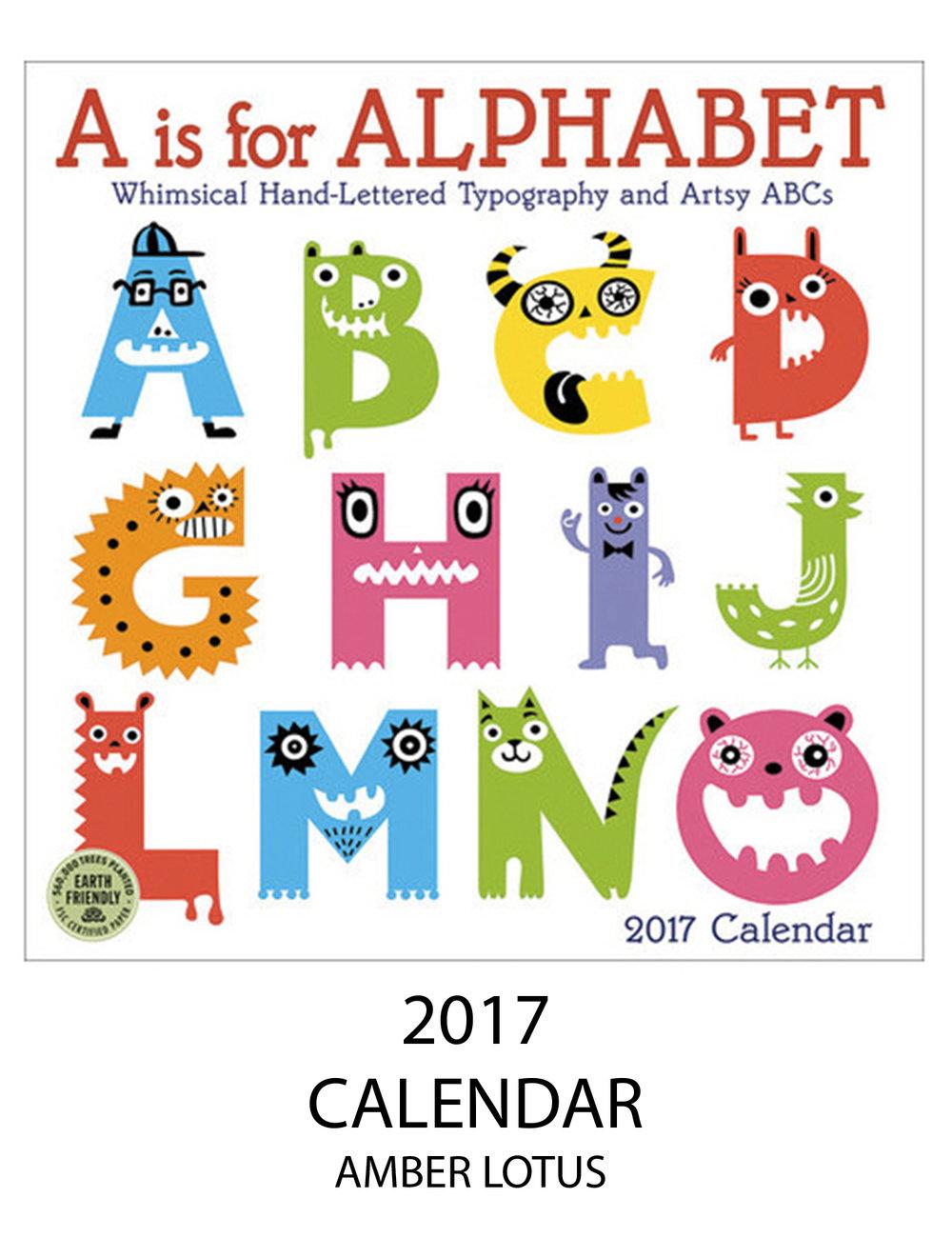 Alphabet Monster calendar