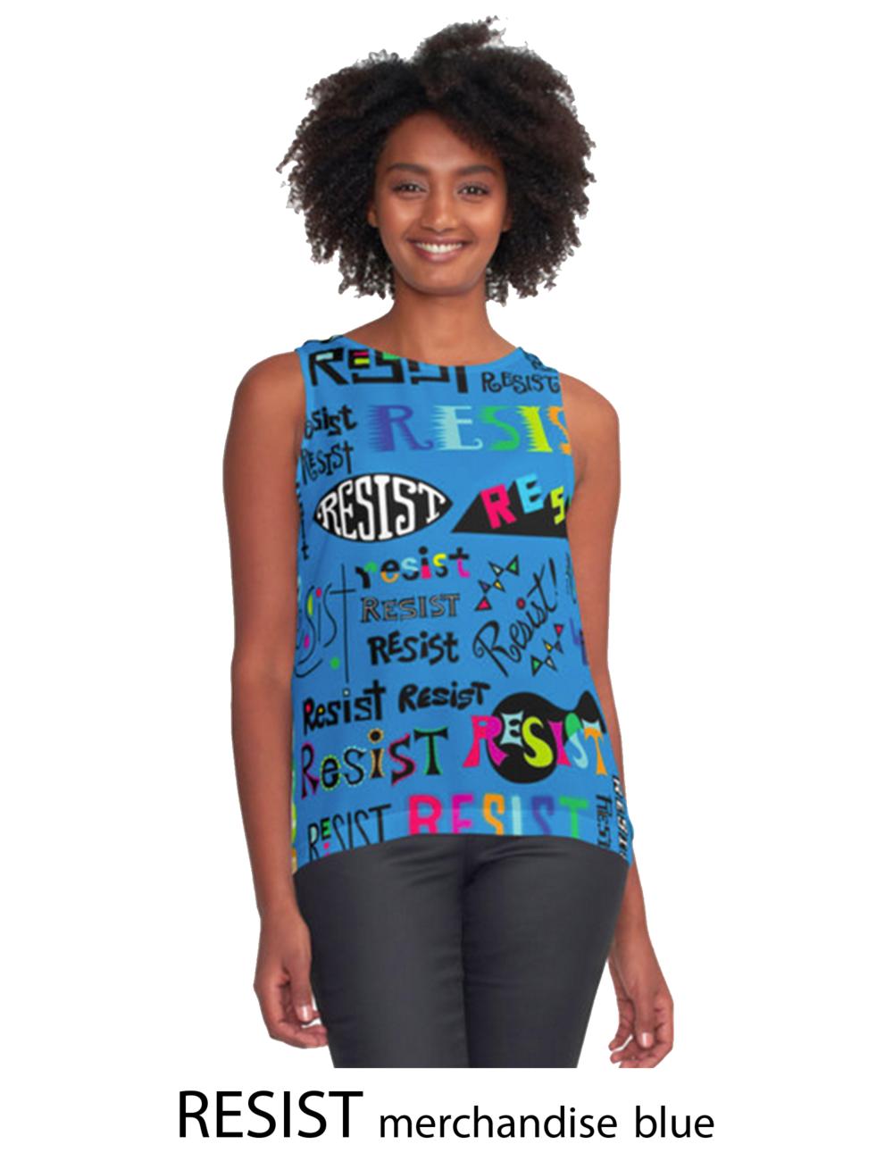 Resist blue merchandise