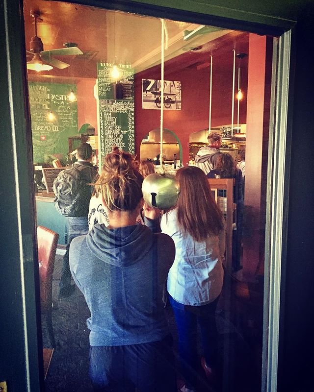 Line to the door lunches are the best ⚡️quick and good. Also, we hear the sound of that bell in our sleep. 😆  #lunchtime #lunchideas #lunchlineup #restaurantlife #folksgottaeat #eatlocal #supportsmall #uiuc #visitchampaigncounty