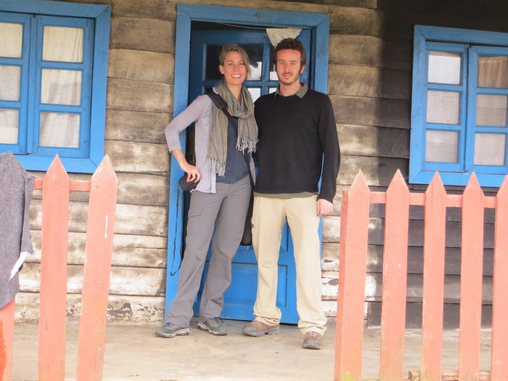 Nick and Michele in Kitchanga, DRC.