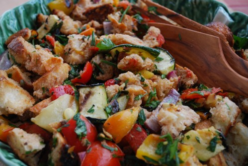 italian summer panzanella salad oozes with fresh flavors of summer ...