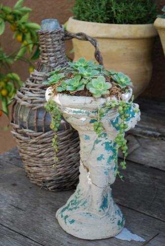 Vintage Cherub Planter Charms
