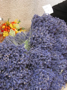 Dried Lavender on Market Day