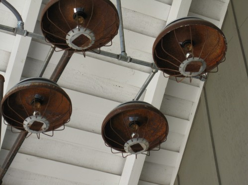 Vintage Chicken Feeder Light Fixture