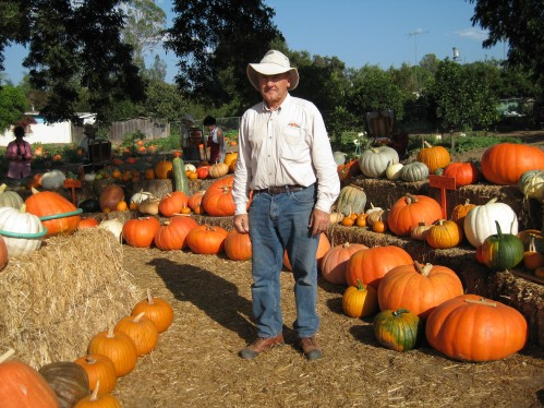 Mike Pierce Amongst His Pumpkins