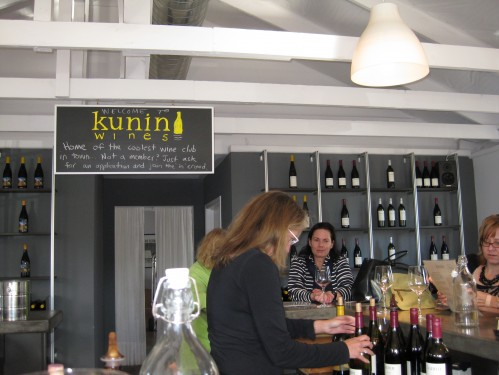 Pouring at Kunin Wines