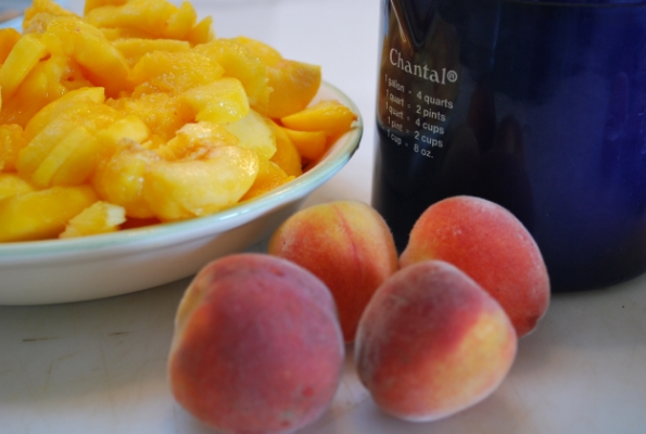 Summer Peaches From The Orchard