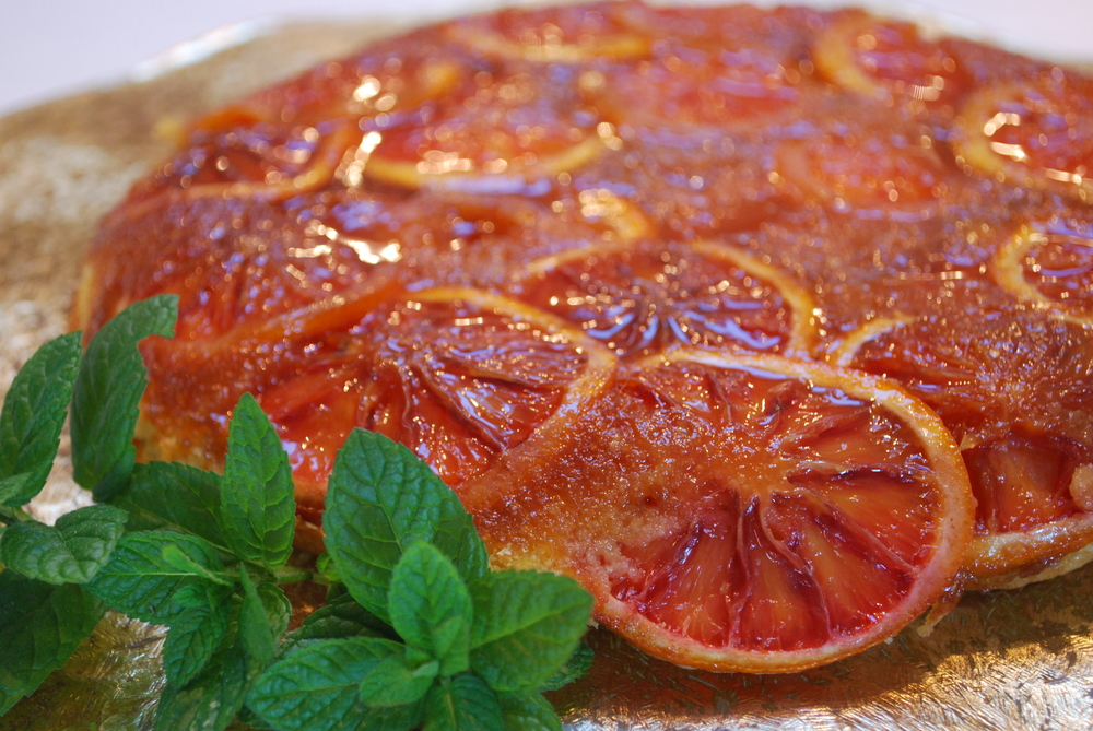 Blood Orange Polenta Cake