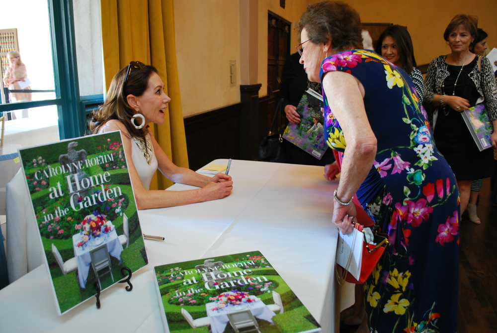 Carolyne Roehm Signing Books After Her Presentation