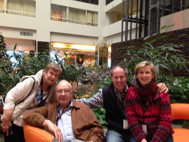 Lobby With My Parents and Husband, John