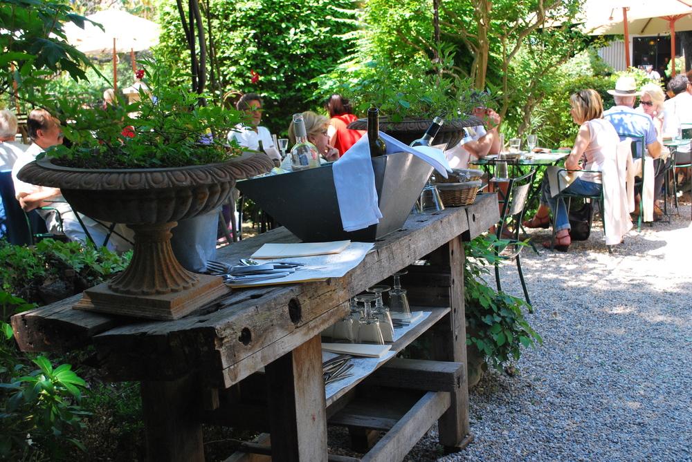 Chef Hebet's Restaurant, Le Jardin du Quai in L'Isle-sur-la-Sorgue, Provence, France