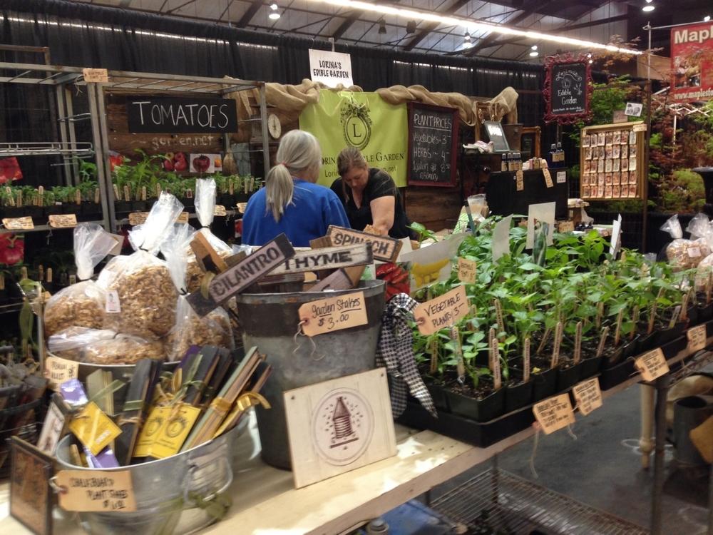 Lorina's Edible Garden Booth