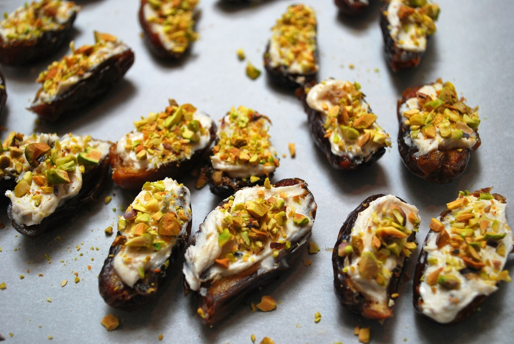 Medjool Dates with Lavender Goat Cheese