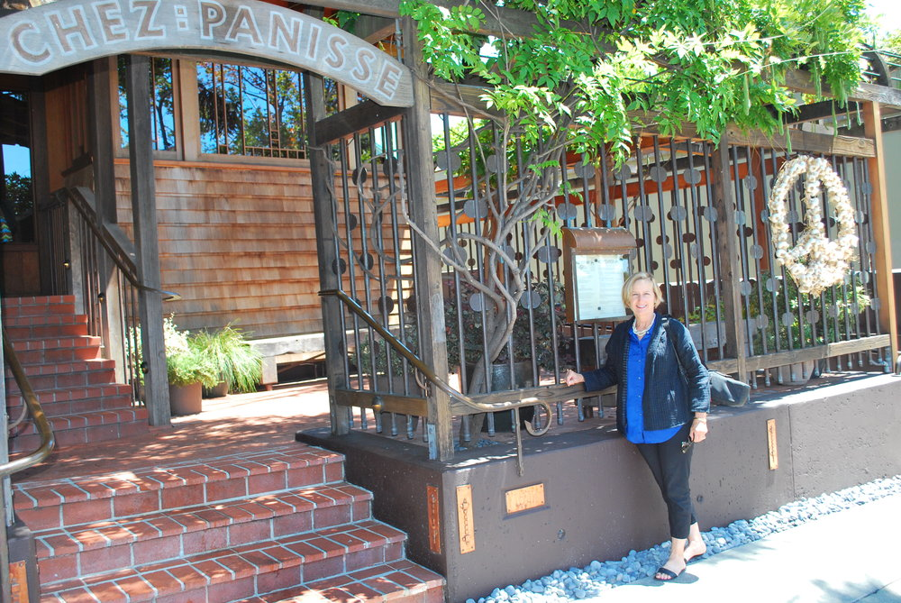 Outside Chez Panisse Restaurant in Berkeley, California
