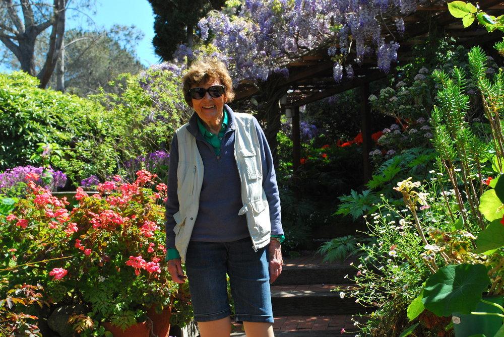 Gracious Pat Welsh in Her Spring Garden