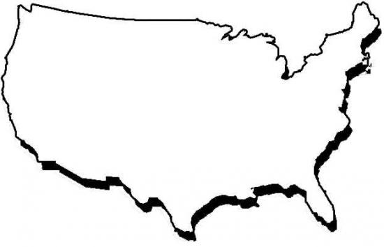 empty map of usa maps of us without states with empty map of the usa blank outline map of usa with empty