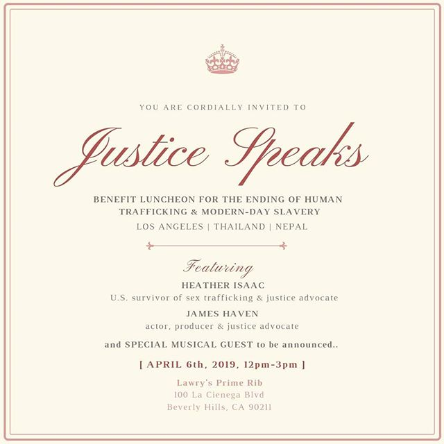 Justice Speaks ~04/6/19~ Benefit luncheon for the ending of human trafficking & modern day slavery.  #justicespeaks #endslavery #endsextrafficking #lovewins #glorytogod #justicespeaksup #jesusloves #antihumantrafficking #justinbieber #pattiemallette #justicespeaksbenefit #justicehasavoice