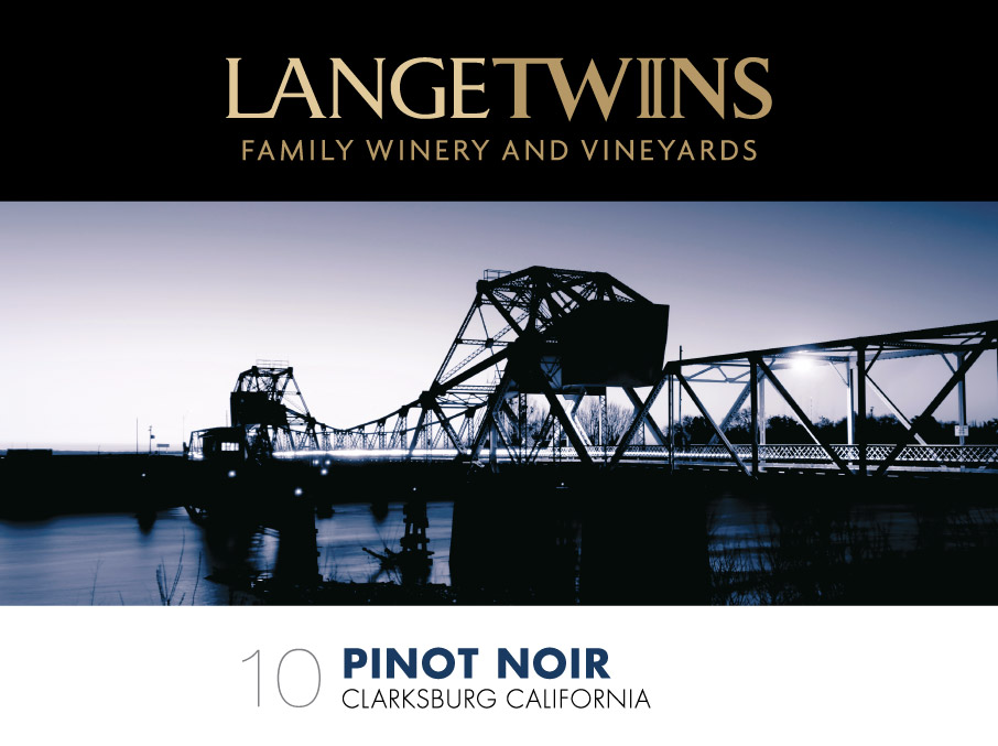 label for the 2010 Pinot Noir for LangeTwins Winery & Vineyards