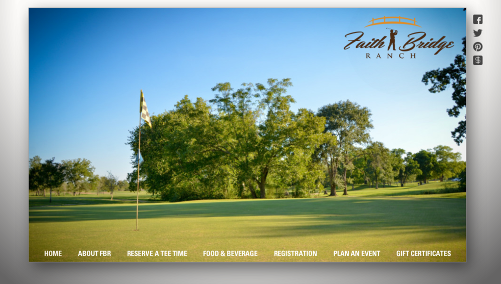 Faith Bridge Ranch & Golf Club logo design