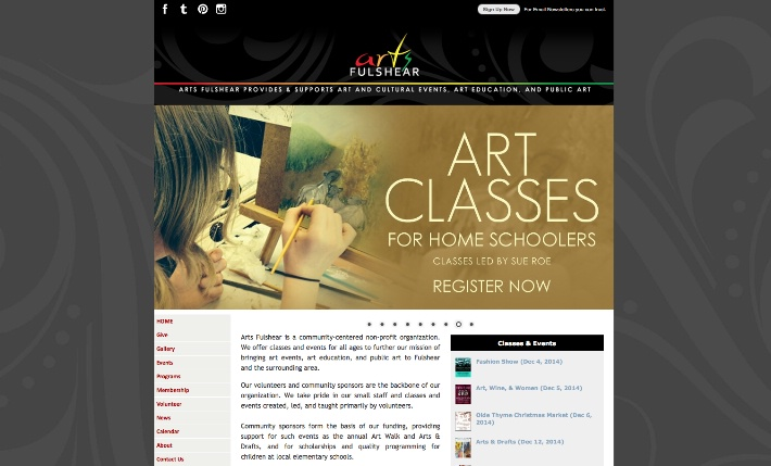 Arts Fulshear website