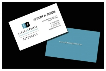 Logo & business card design for Denena & Points, Attorneys at Law