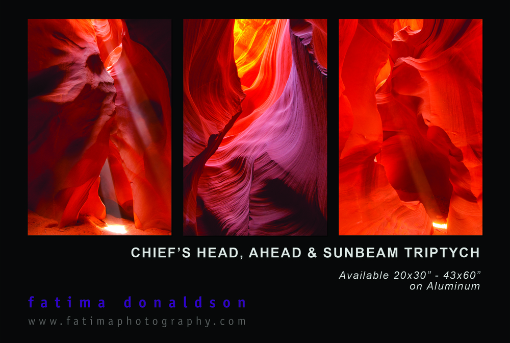 Antelope Canyon Triptych