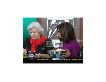 Chef Sandy Smith makes the award winning Chocolate Bread Pudding on FOX 26; website has recipe for it as well.