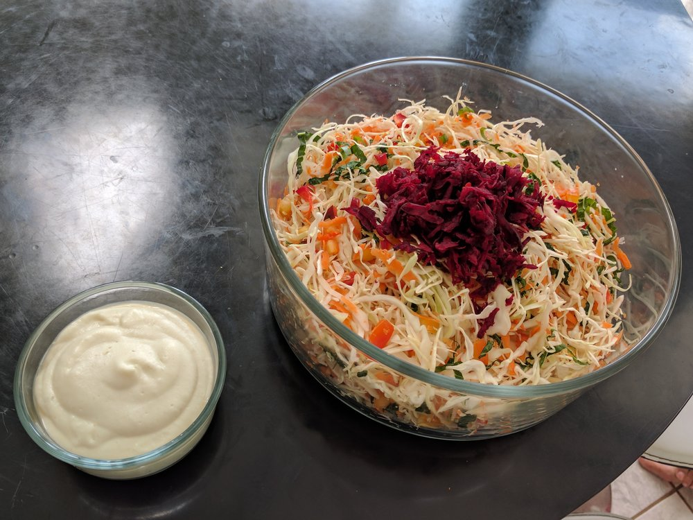 Vegan raw coleslaw - Dominical, Costa Rica