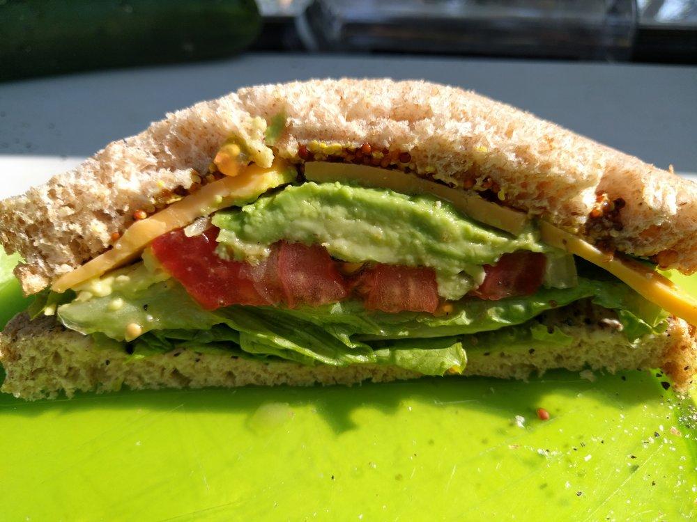 Avocado sandwich - El Zonte, El Salvador