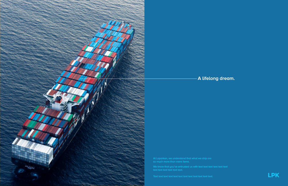 Ad Concept ad concept for laparkan shipping — brent.