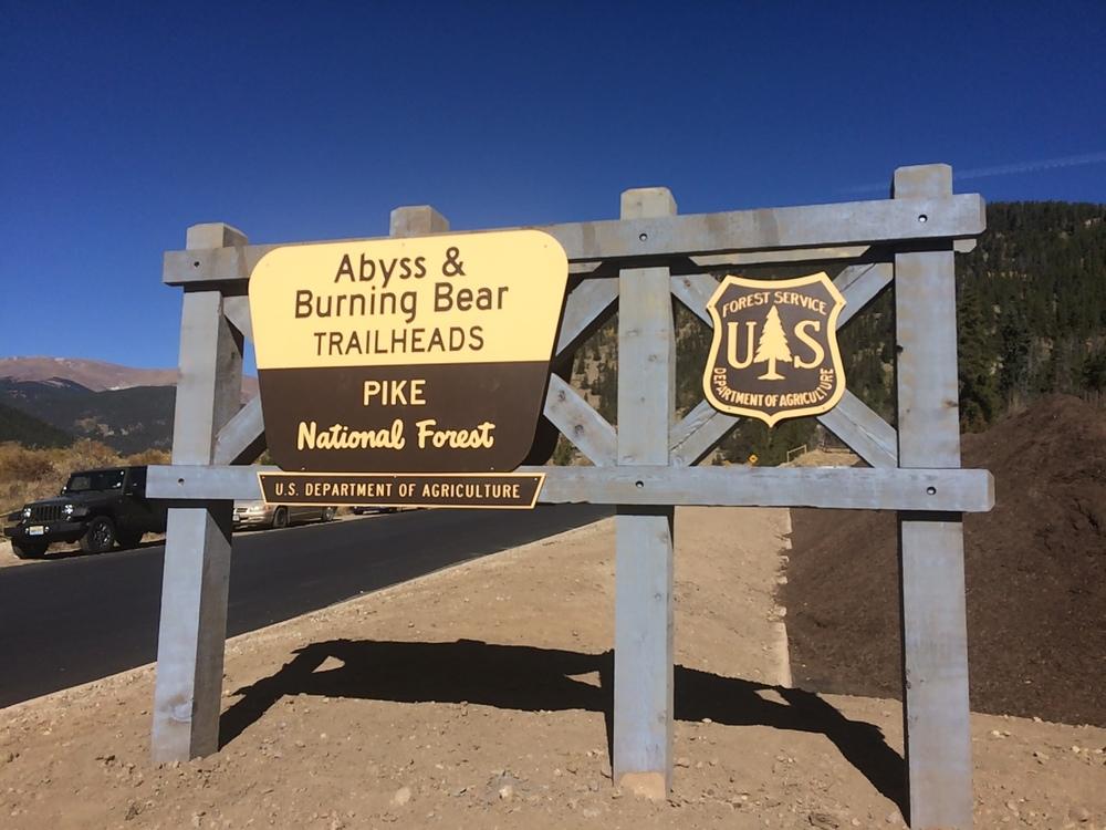 Burning Bear Trailhead along Guanella Pass