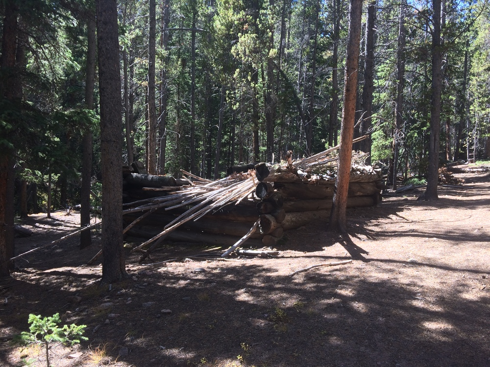 Cabin ruins at mile 2.5