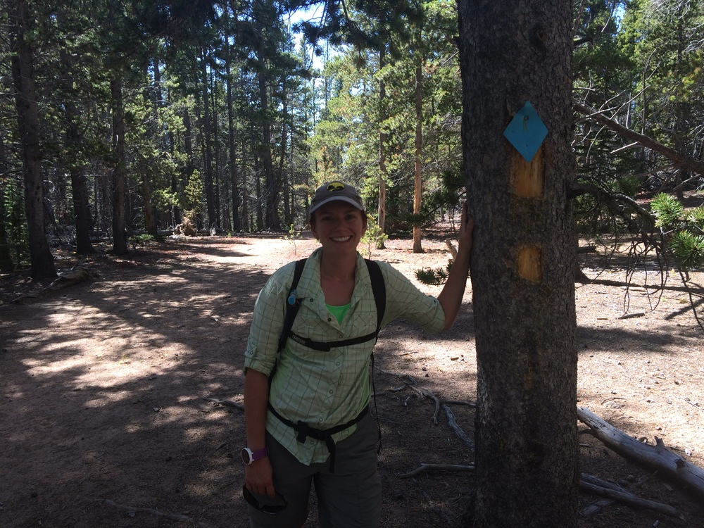 The Soapstress on the ridge of Burning Bear trail