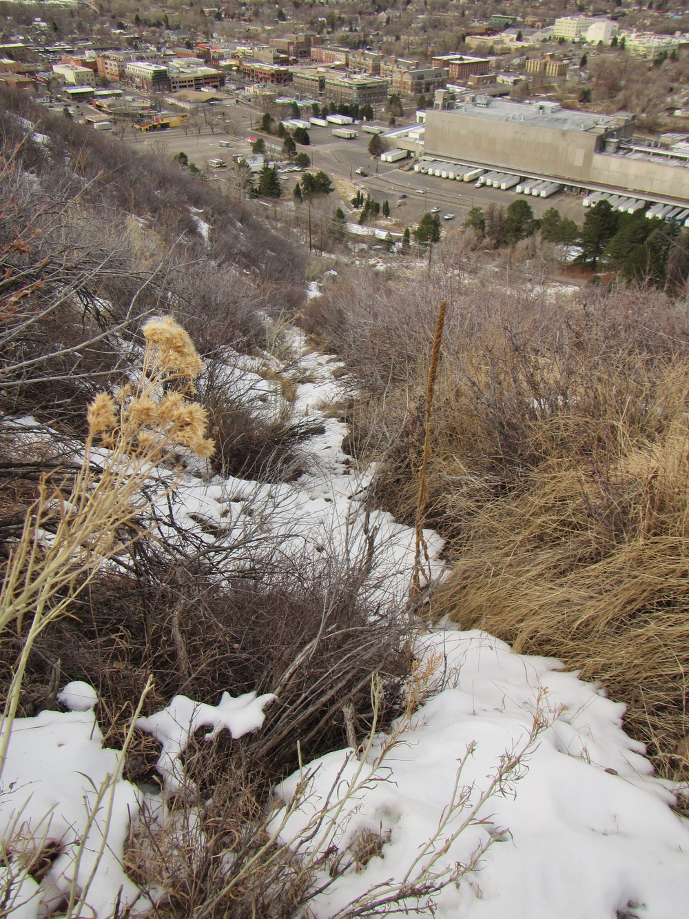 Closer view of the funicular path from the Golden Summit Trail
