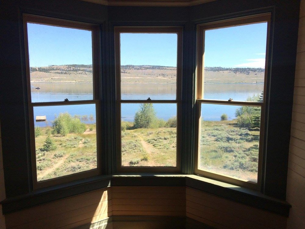 360 degree views from the cupola. Twin Lakes straight ahead and adventure all around.