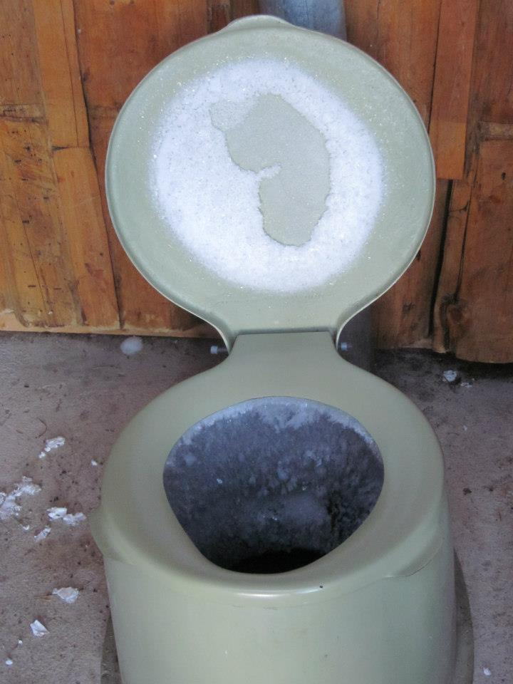 Leave the door to the outhouse open while you use it for fantastic views of the Gore Range