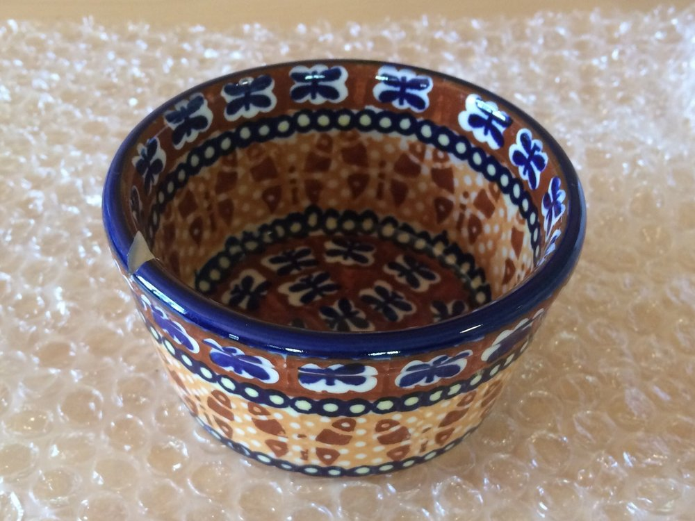 There is beauty and magic in the world - look what arrived for me from my friend! Broken Polish pottery!
