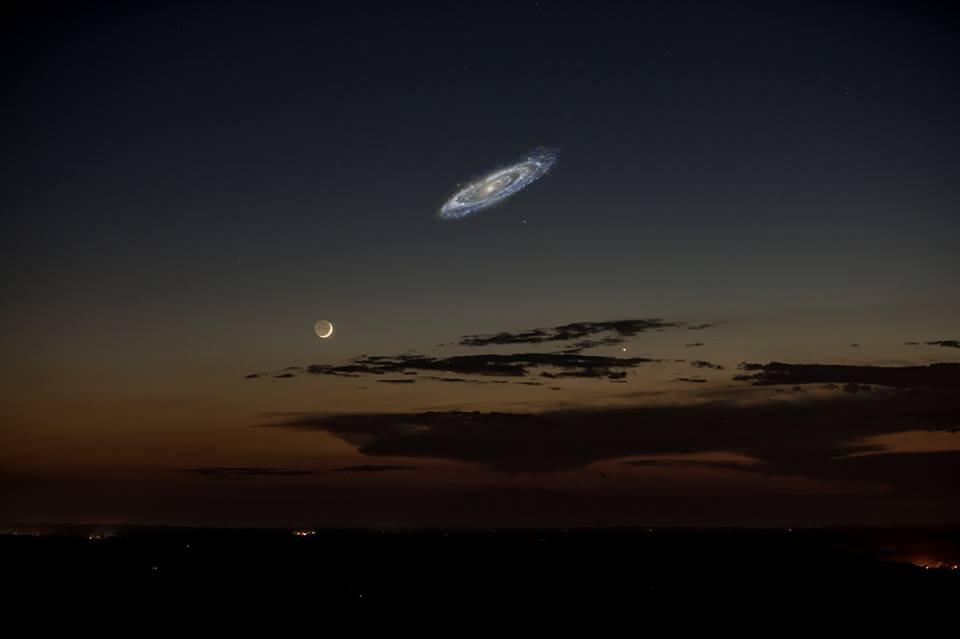 If Andromeda were bright enough to be seen