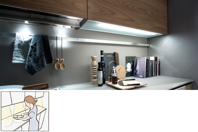integrated low voltage under-cabinet lighting