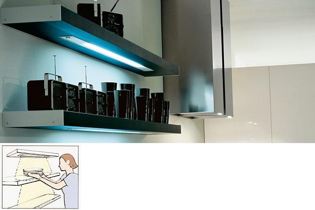lighted shelves