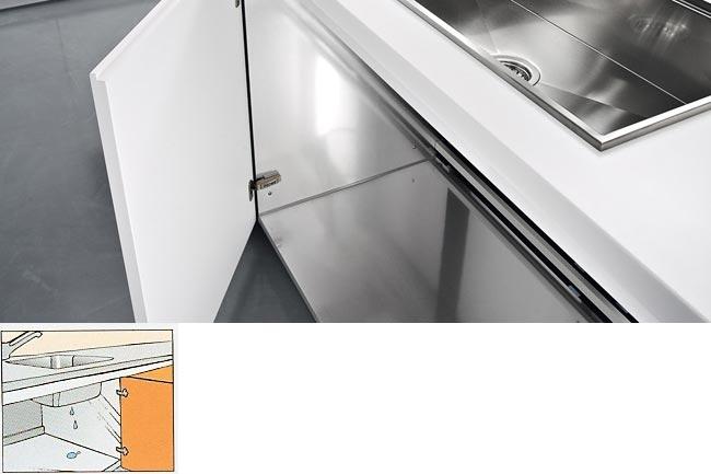 aluminum lined sink units
