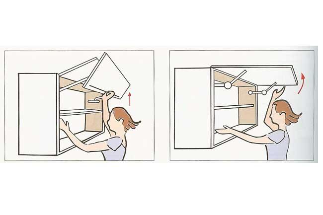 bi-fold and lift-up door options
