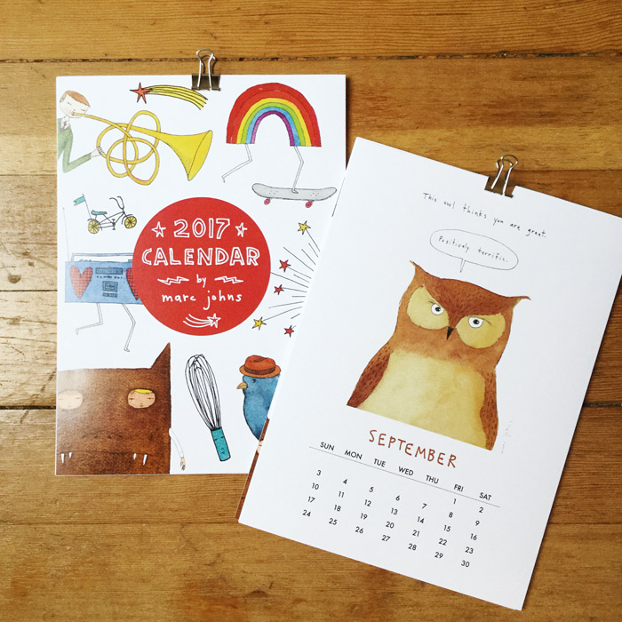 Wall Calendar  Marc Johns