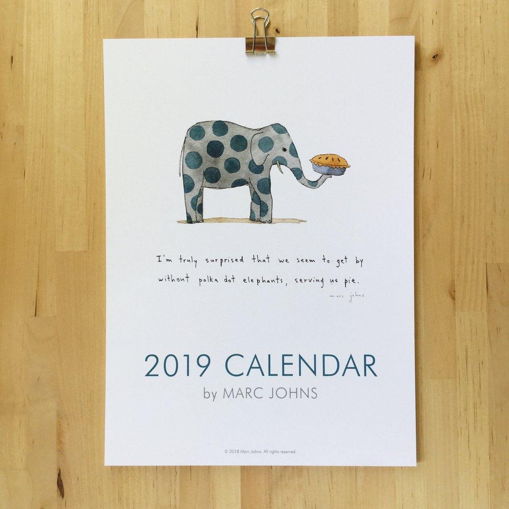2019 Wall Calendar Marc Johns