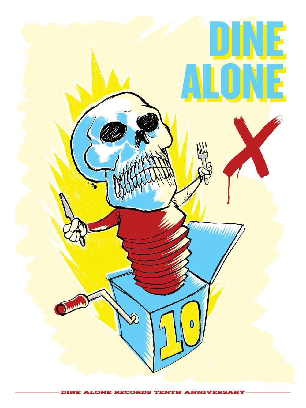 "Dine Alone X 18"" x 26"" 2015"