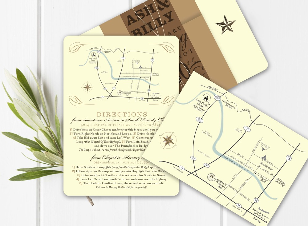 Wedding Invitation Map