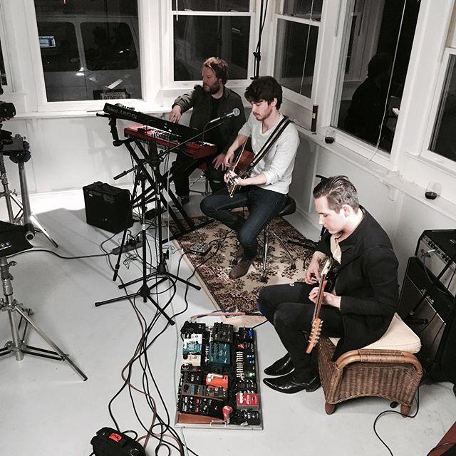 Filming a few songs tonight