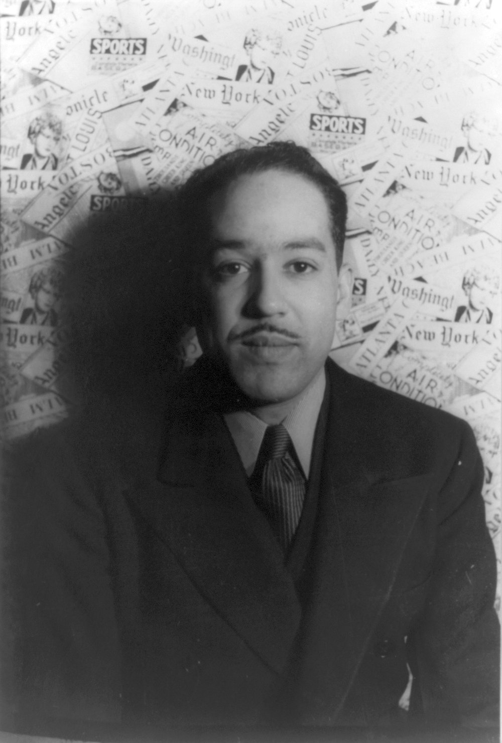 Langston Hughes photographed by Carl Van Vechten (Source: Wikimedia)